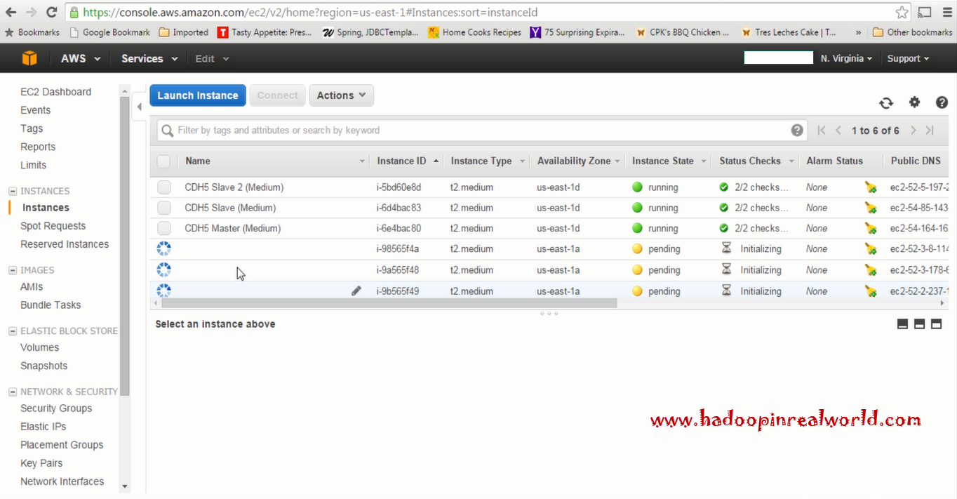 Instance coming up in AWS